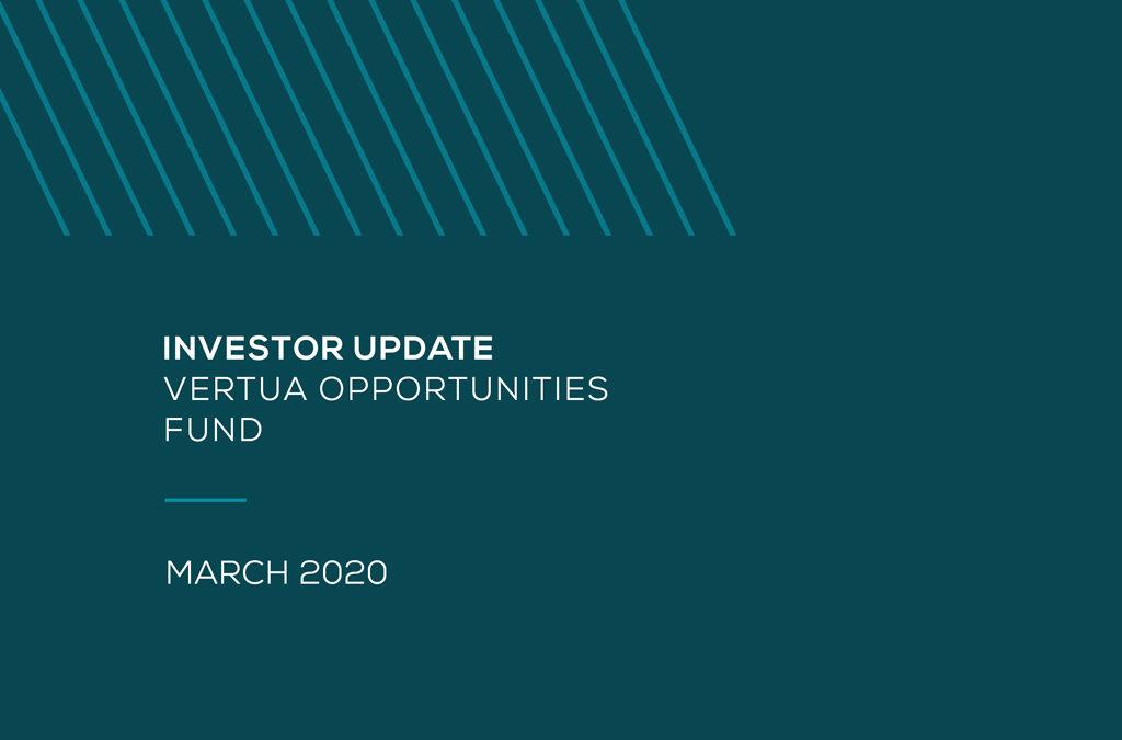 Investor Update – Vertua Opportunities Fund